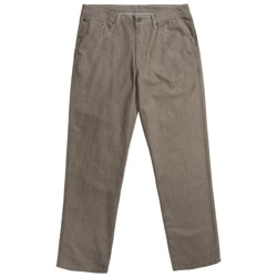 Report Collection Vertical Texture Pants - Low Rise, Cotton (For Men)