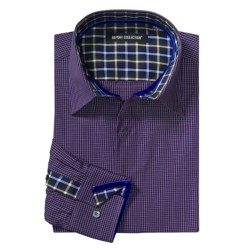 Report Collection Mini Check Sport Shirt - Long Sleeve (For Men)