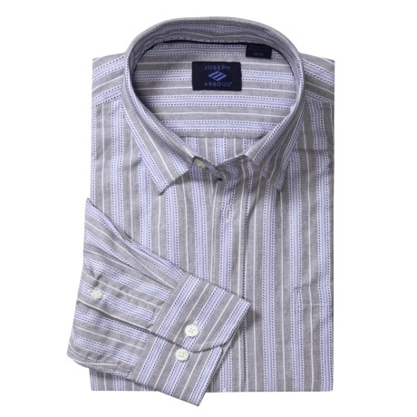 Joseph Abboud Stripe Sport Shirt - Cotton, Long Sleeve (For Men)