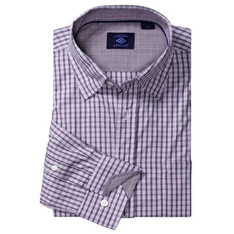 Joseph Abboud Small Check Sport Shirt - Cotton, Contrast Cuffs, Long Sleeve (For Men)