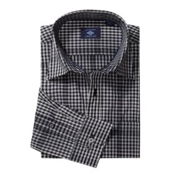 Joseph Abboud Small Check Sport Shirt - Long Sleeve (For Men)