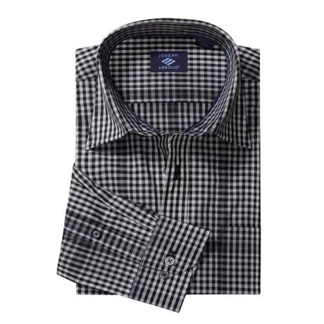 Joseph Abboud Small Check Sport Shirt - Long Sleeve (For Men)