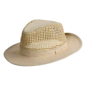Henschel Mesh Breezer Safari Hat - Linen-Wood Fiber (For Men)