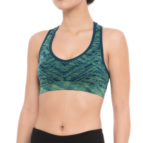 Spalding Seamless Racerback Sports Bra - Removable Padded Cups, Low Impact (For Women)