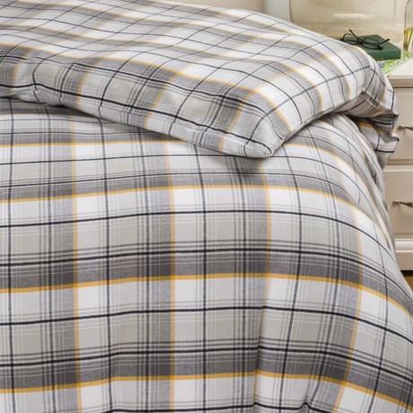 Bambeco Brigham Plaid Flannel Pillow Sham - King, Organic Cotton
