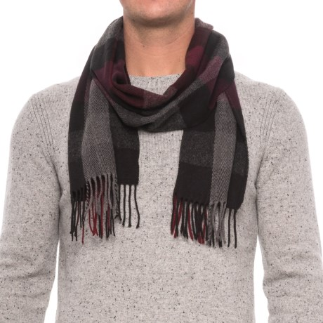 Rainforest Engineered Plaid Fringed Scarf (For Men)