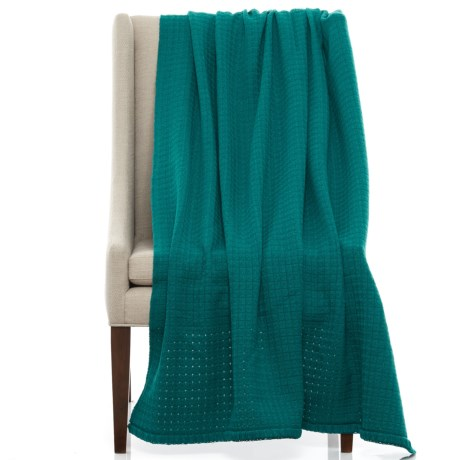 """Bambeco Solid Box Weave Wool Throw Blanket - 51x71"""""""
