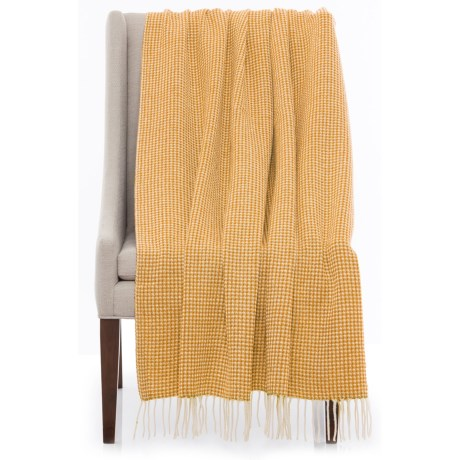 "Bambeco Piquet Print Wool Throw Blanket - 51x71"""