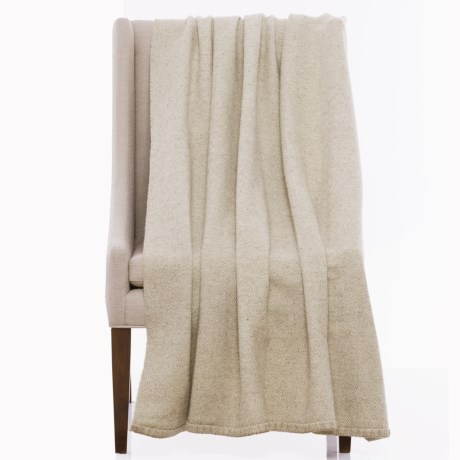 "Bambeco Maze Print Wool Throw Blanket - 51x71"""