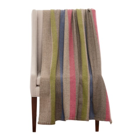 Bambeco Fine Print Wool Throw Blanket - 51x71""