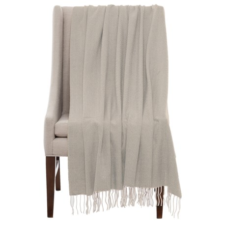 Bambeco Fine Herringbone Wool Throw Blanket - 51x71""