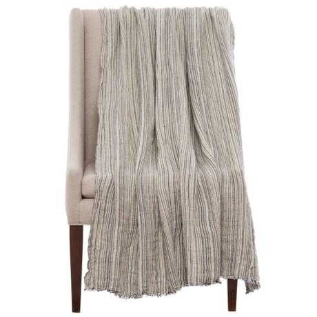 """Bambeco Terra Linen Throw Blanket - 50x70"""""""