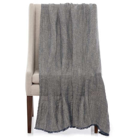 Bambeco Terra Linen Throw Blanket - 50x70""