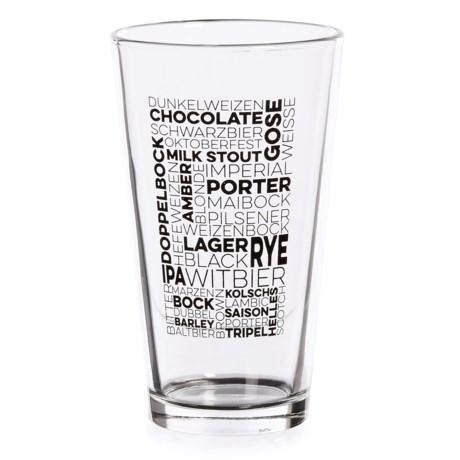 Susquehanna Glass Types of Beer Beer Glass - 16 fl.oz.