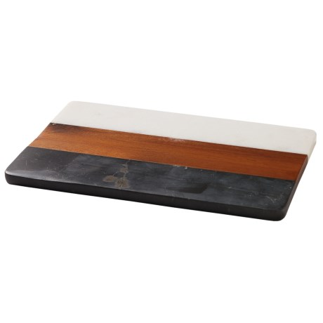 Core Bamboo Acacia and Two-Tone Marble Cutting and Serving Board - Rectangle