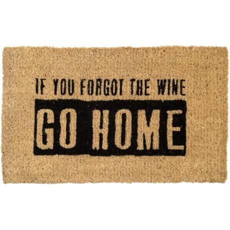 """Bambeco Natural Coir Wine Doormat - 18x30"""""""