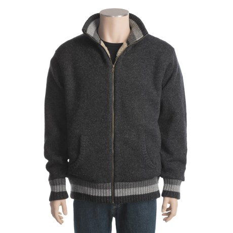 Hobie Mock Neck Sweater - Full Zip, Sherpa-Lined (For Men)