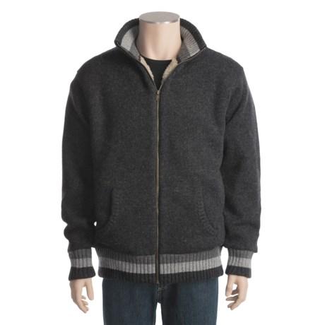 Hobie Mock Neck Sweater - Full Zip, Sherpa-Lined (For Men)