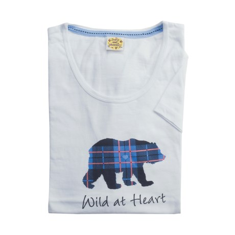 Toast and Jammies Printed Cotton Tee Shirt - Contemporary Cut, Short Sleeve (For Women)