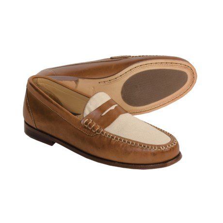 Martin Dingman Pierson Leather Shoes - Handsewn, Penny Loafers (For Men)