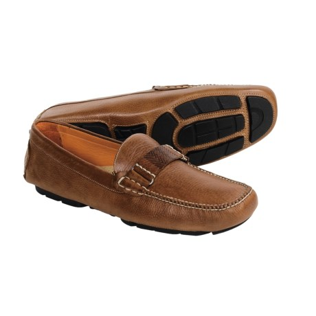 Martin Dingman Eldridge Leather Moccasins - Instep Strap and Contrast Stitching (For Men)
