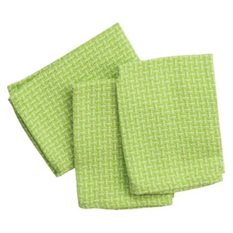 DII Basket Weave Dish Cloths - Set of 3