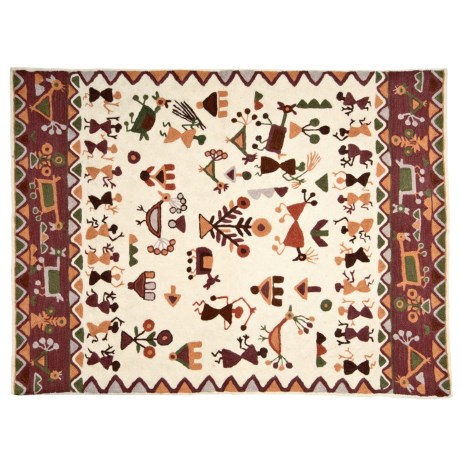 Kaleen Artesian Embroidery Chain Stitch Rug - 3x5', Rectangular