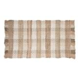 """Kaleen Chindi Block Rug - 20x30"""", Cotton, Rectangular"""