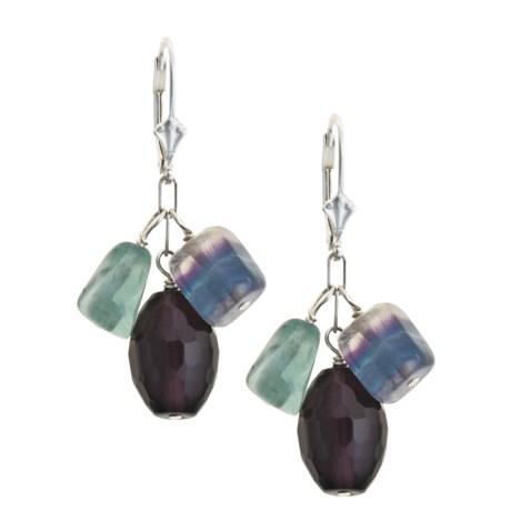 Stonz International Gemstone Cluster Earrings