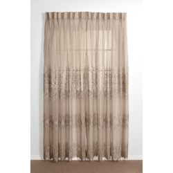 """Commonwealth Home Fashions Embroidered Curtains - 84"""", Pinch Pleat Top"""