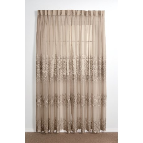 "Commonwealth Home Fashions Embroidered Curtains - 84"", Pinch Pleat Top"