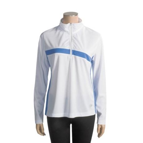 10,000 Feet Above Sea Level Raglan TopCool Shirt - Zip Neck, Long Sleeve (For Women)