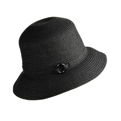 Betmar Braided Cloche Hat - Wooden Ring (For Women)