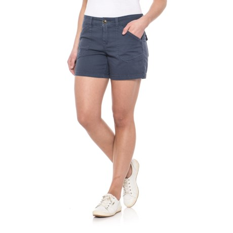 "Union Bay Alix Stretch Cotton Twill Shorts - 5"" (For Women)"