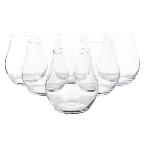 Bormioli Rocco Inalto Arte Stemless Glasses - 16.5 fl.oz., Set of 6