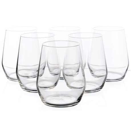 Bormioli Rocco Electra Stemless Glasses - 12.75 fl.oz., Set of 6