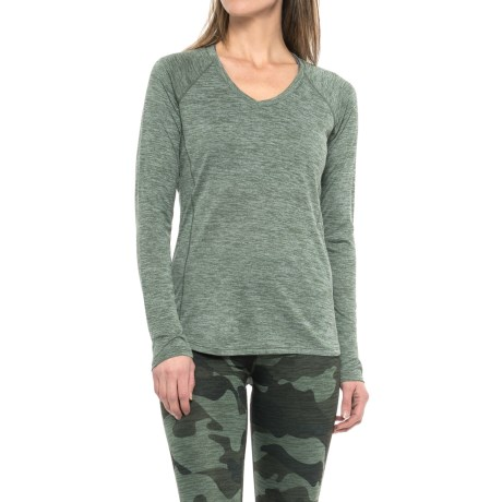 RBX Space-Dye T-Shirt - V-Neck, Long Sleeve (For Women)