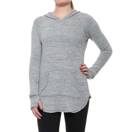 Harmony and Balance Brushed Heather Hacci Hoodie (For Women)