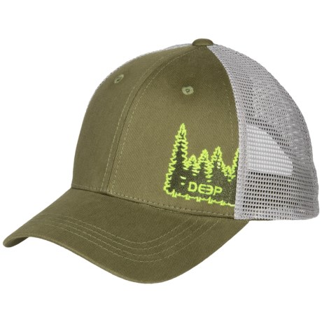 Deep Tree Line Trucker Hat (For Men and Women)