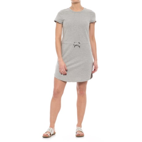 Freedom Trail French Terry Drawstring Dress - Short Sleeve (For Women)
