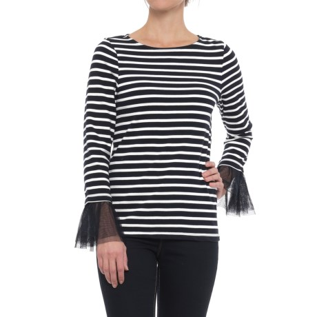 Beach Lunch Lounge Syla Shirt - Tulle Trim, Long Sleeve (For Women)