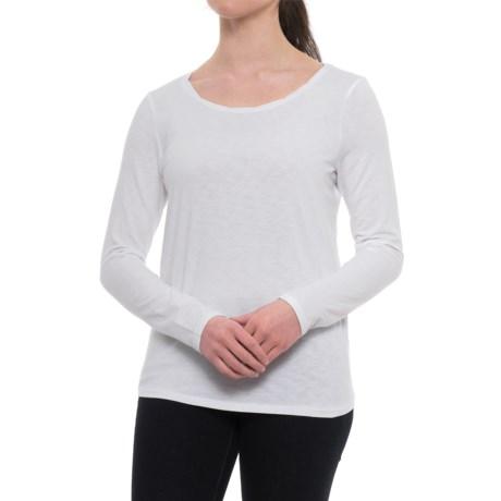St. Tropez West Twist Neck Modern Slub Shirt - Long Sleeve (For Women)