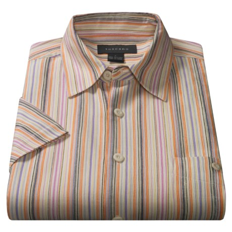 Toscano Wayne Italian Silk Shirt For Men 33365 Save 82