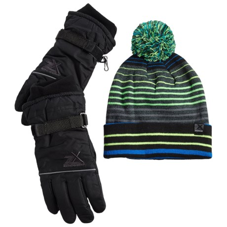 ZeroXposur Boyce Beanie and Gloves Set - Insulated (For Big Boys)
