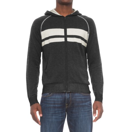 Agave Denim Dorian Supima® Cotton Hoodie - Zip Front (For Men)