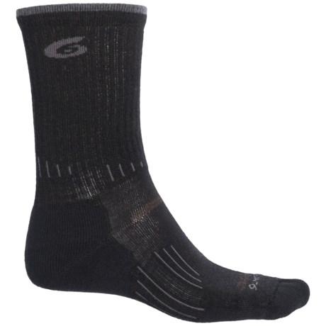 Point6 Hiking Tech Light Socks - Merino Wool, Crew (For Men and Women)