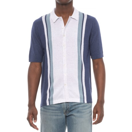 Agave Denim Denim Elwha Retro Polo Shirt - Cotton-Modal, Short Sleeve (For Men)