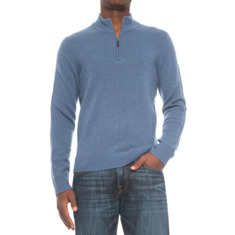 C89men C89Men Jersey Stitch Wool Sweater - Zip Neck (For Men)