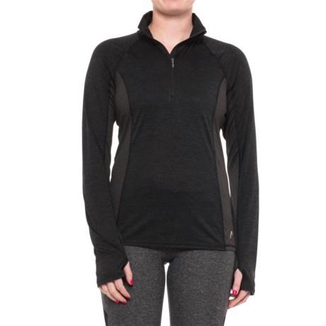 Head Millennial Zip Neck Shirt - Long Sleeve (For Women)