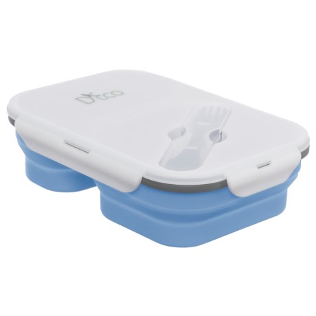 Deco D'Eco Collapsible Lunch Box with Utensils - Silicone